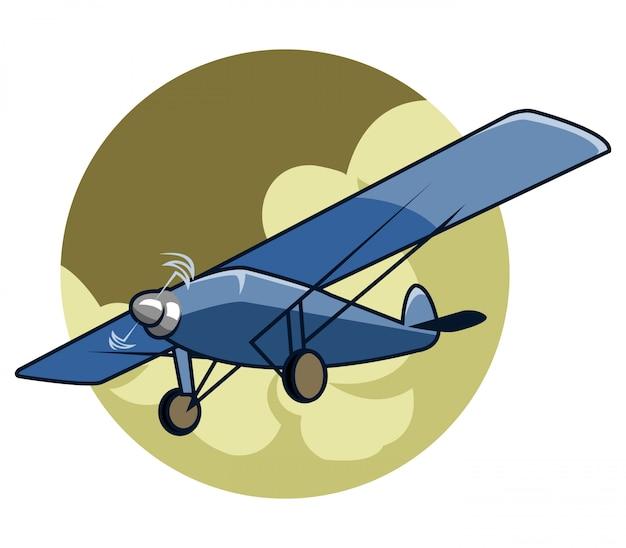 Vector illustration of classic airplane Premium Vector