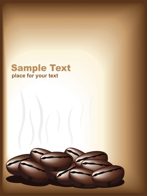 Vector illustration of coffee Free Vector
