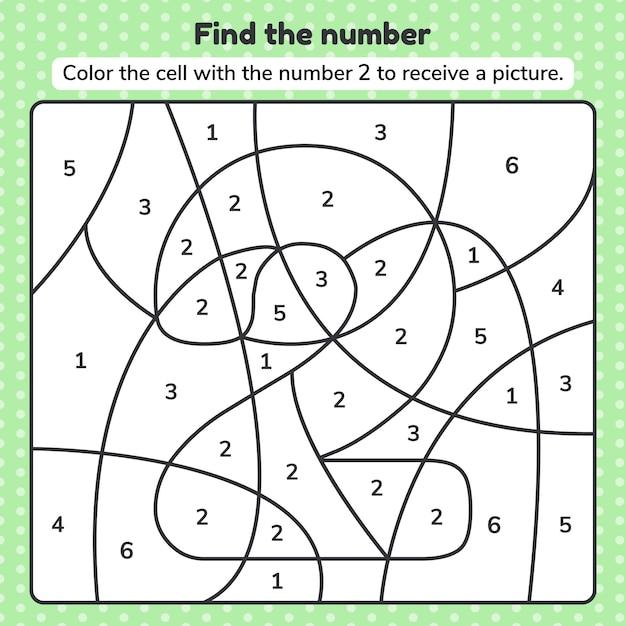 Find The Number 4 Worksheet - best worksheet