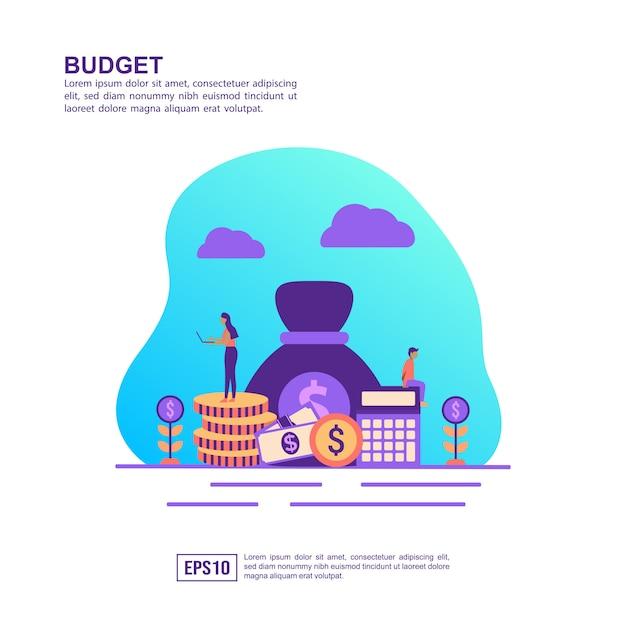 Vector illustration concept of budget Premium Vector