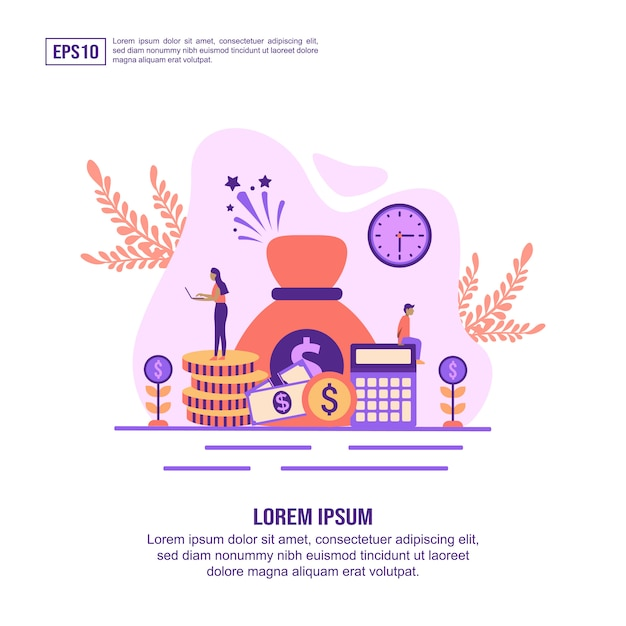 Vector illustration concept of economy Premium Vector