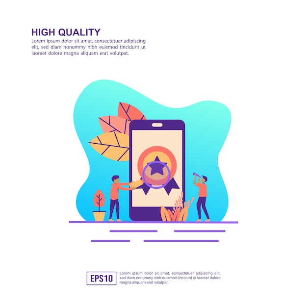 Vector illustration concept of high quality Premium Vector