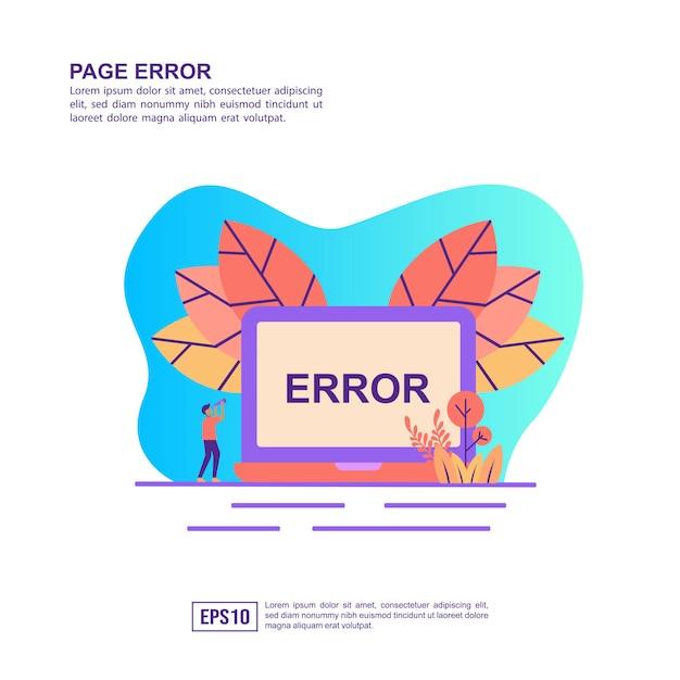 Vector illustration concept of page error Premium Vector