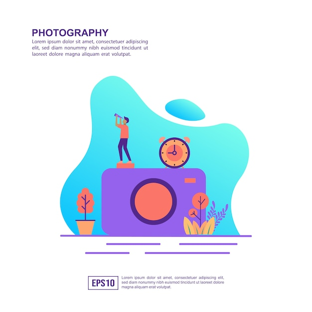 Vector illustration concept of photography Premium Vector