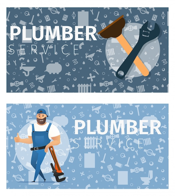 Vector illustration concept plumber service Premium Vector