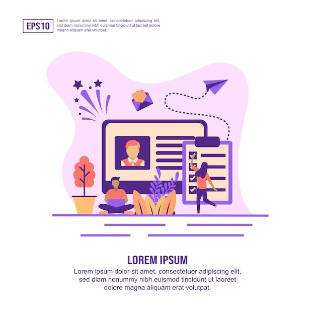 Vector illustration concept of recruitment Premium Vector