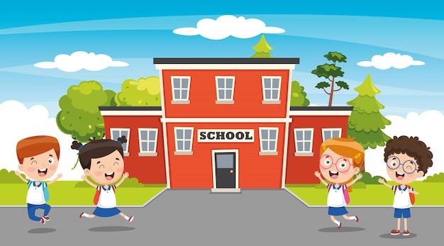 Vector illustration of education elements Premium Vector