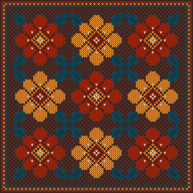 Vector illustration of folk seamless pattern ornament. ethnic ornament Premium Vector