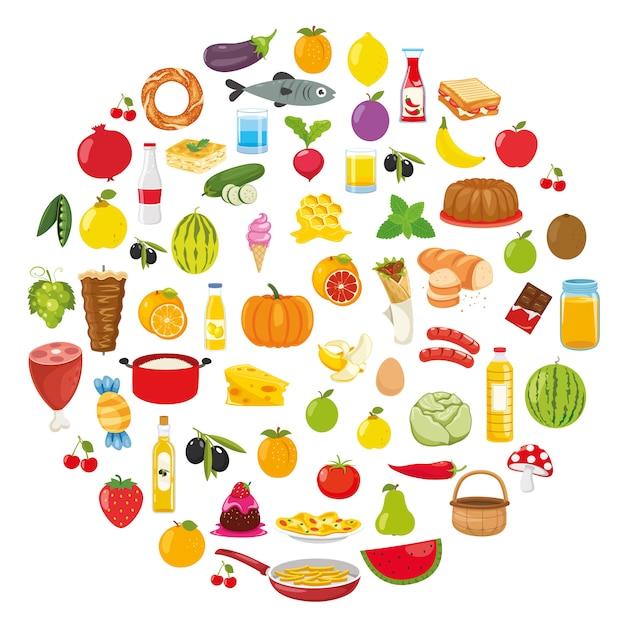 Vector illustration of food concept design Premium Vector