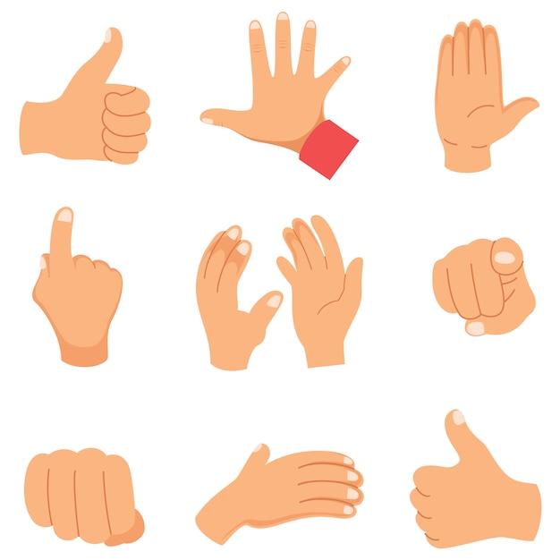 Vector illustration of hand gestures Premium Vector