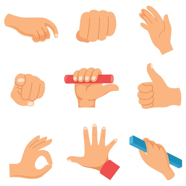 Vector illustration of hand gestures Premium Vector