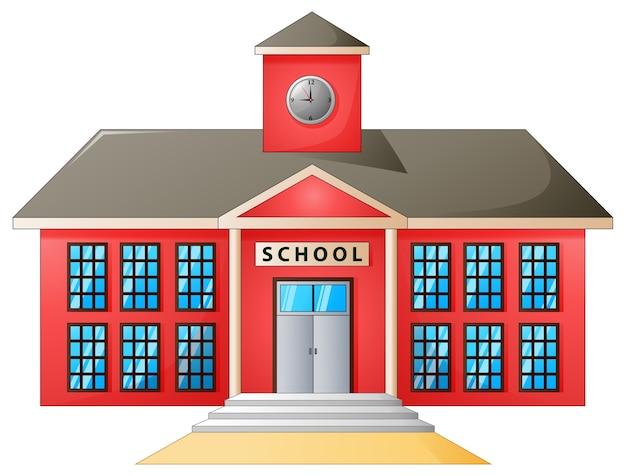 Vector illustration of high school modern building Premium Vector