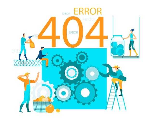 Vector illustration inscription error 404 page website. Premium Vector