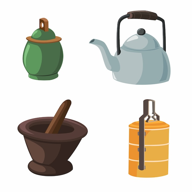 Vector illustration of items in the house Premium Vector