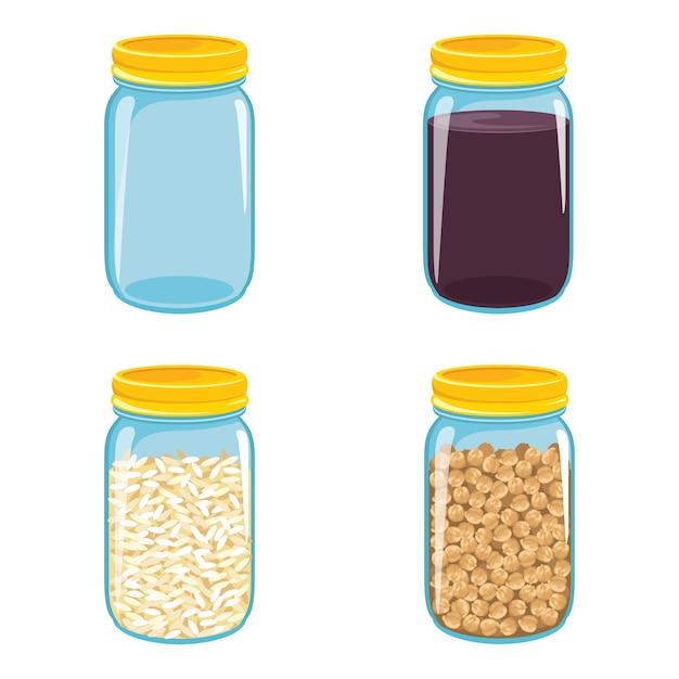 Vector illustration of jars Premium Vector