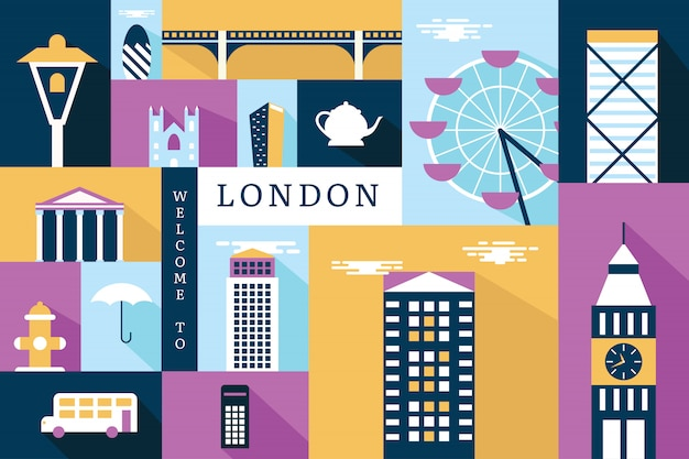 Vector illustration of london Premium Vector