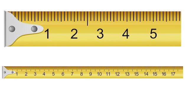 Vector illustration of a measuring tape Premium Vector