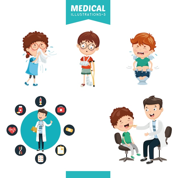Vector illustration of medical Premium Vector