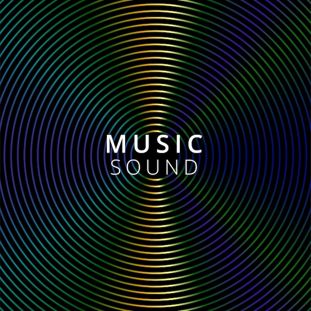 暗い背景の上のベクトルイラスト音楽 無料ベクター