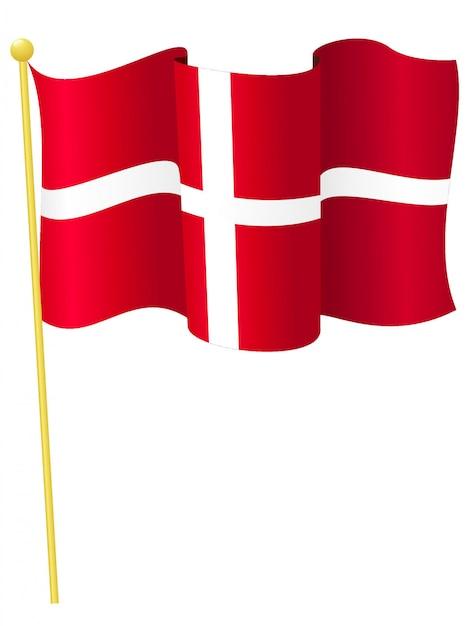 Vector illustration of the national flag of denmark Premium Vector