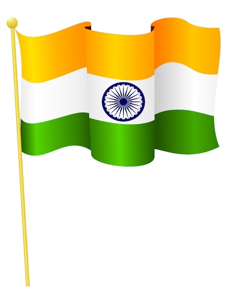 Vector illustration of the national flag of india Premium Vector