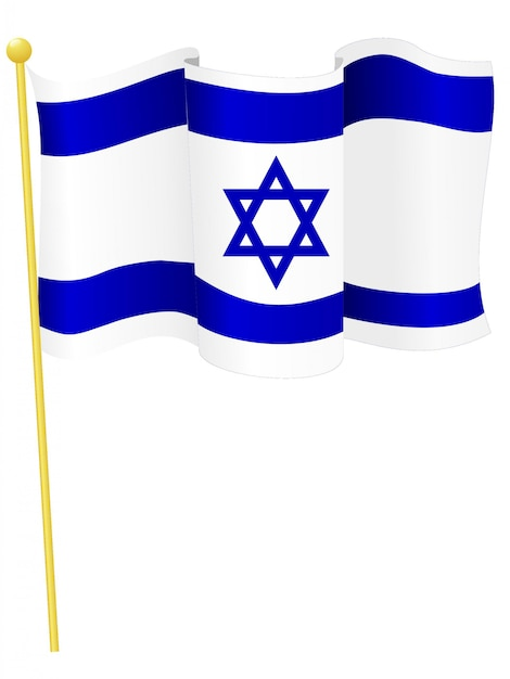 Vector illustration of the national flag of israel Premium Vector