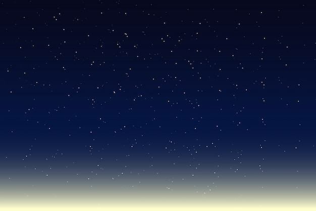Vector illustration of night sky Premium Vector