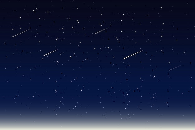 Vector illustration of night sky Premium Vector