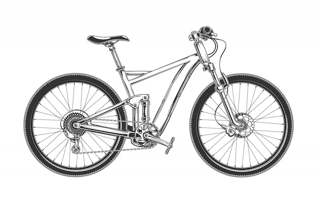 Vector illustration of a modern bicycle Free Vector