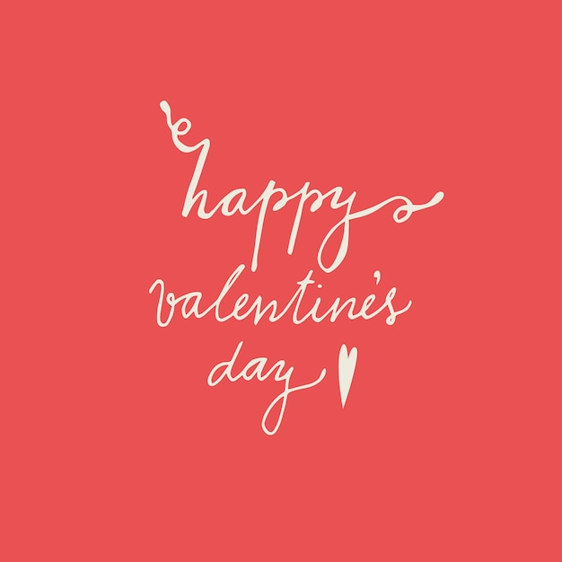 Vector Illustration Of Happy Valentine S Day Words In Lettering On