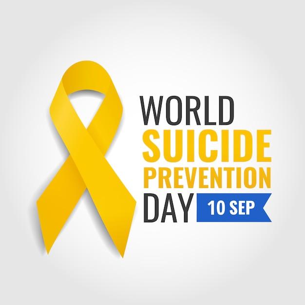 Векторная иллюстрация всемирного дня предотвращения самоубийств Premium векторы