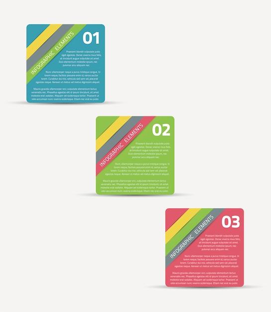 Vector illustration paper ribbon template infographic Premium Vector
