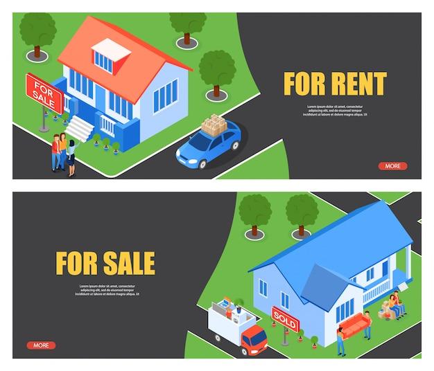 Illustrazione vettoriale per affitto e per vendita appartamento. Vettore gratuito