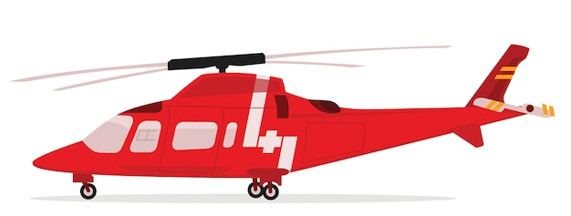 Vector illustration of rescue helicopter Premium Vector