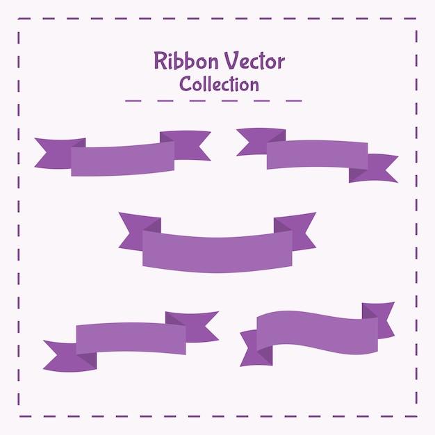 Vector illustration ribbon banner collection Premium Vector