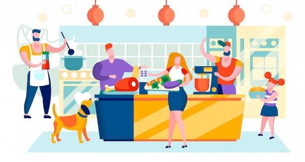 Vector illustration shopping mall area cartoon. Premium Vector