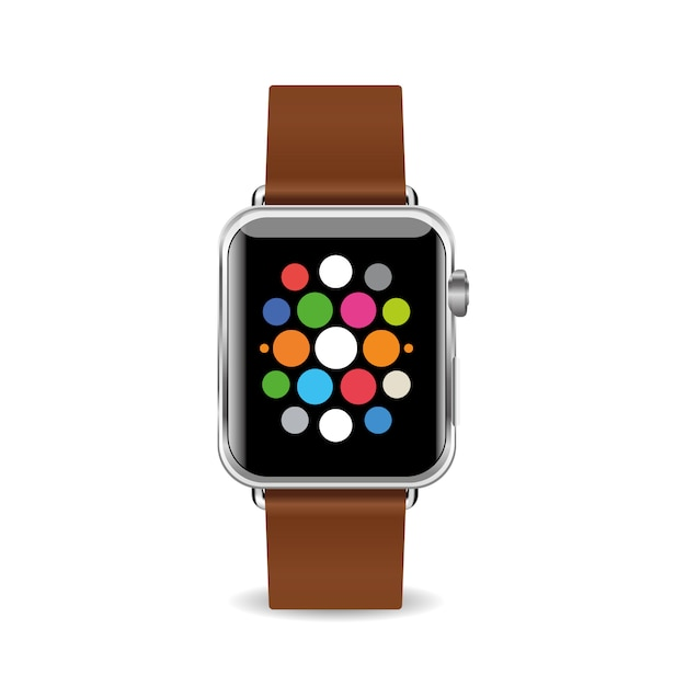 Vector illustration smart watch isolated on white background Premium Vector