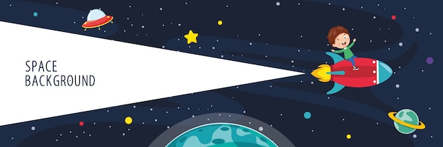 Vector illustration of space background Premium Vector