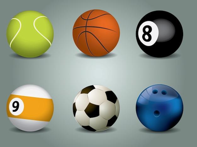 Vector illustration of sport balls Premium Vector