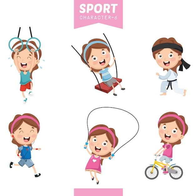 Vector illustration of sport character Premium Vector