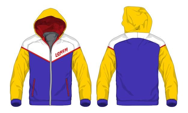 Vector illustration of sport hoodie jacket. Premium Vector