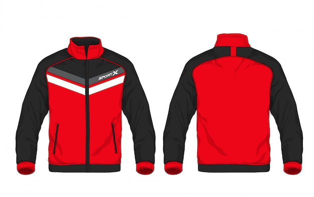 Vector illustration of sport jacket. Premium Vector
