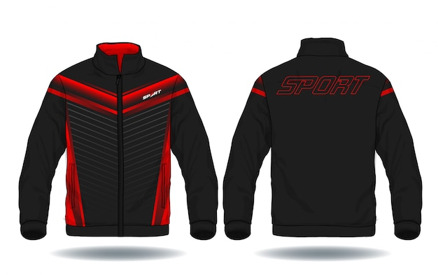 Vector illustration of sport jacket. Premium Vector