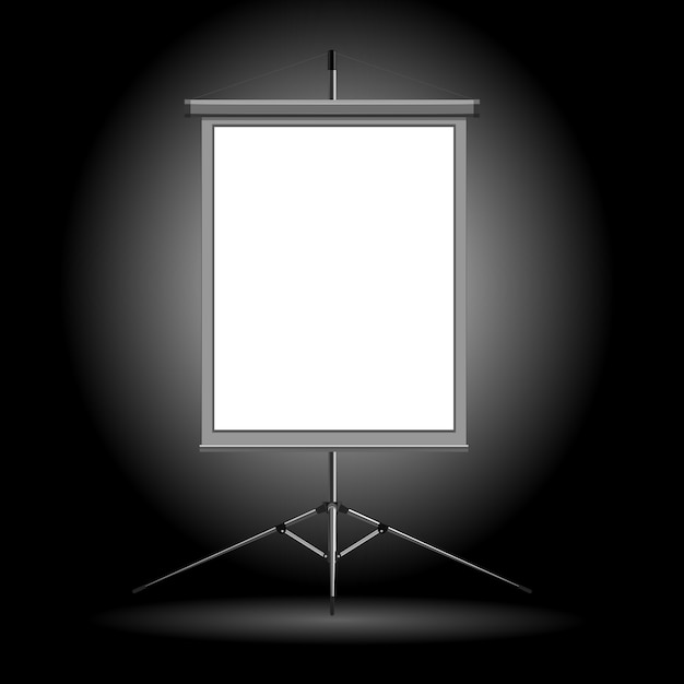 Vector illustration of the stand on a dark background Premium Vector