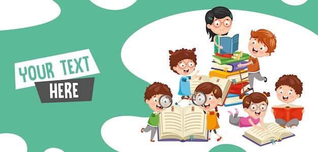 Vector illustration of students Premium Vector