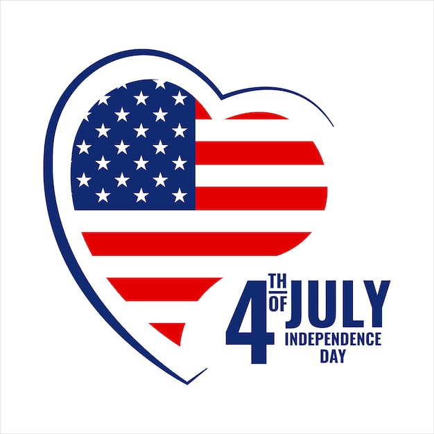 Vector illustration on the theme  fourth of july Premium Vector