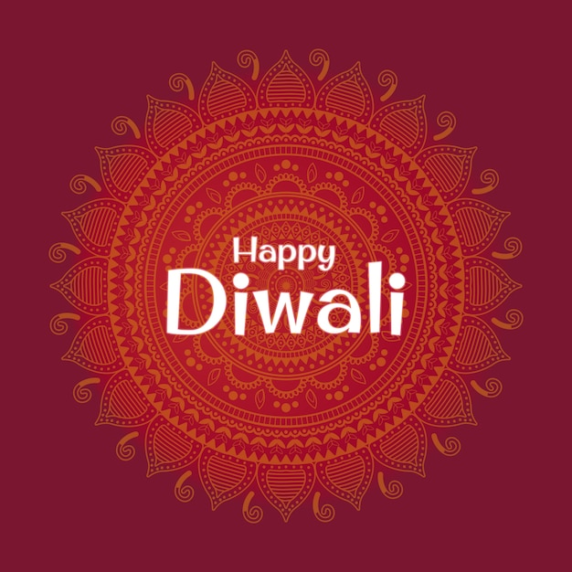 Vector illustration on the theme of the holiday diwali. deepavali light and fire festival. Premium Vector