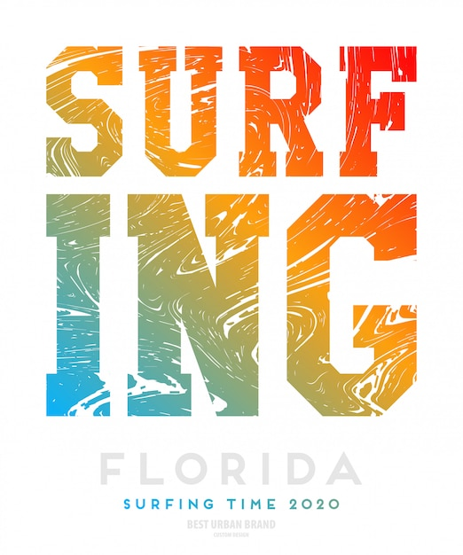 Vector illustration on the theme of surf rider Free Vector