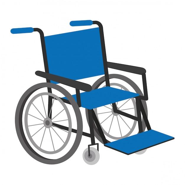 Vector illustration of wheel chair Premium Vector