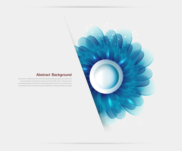 Vector Illustration With blue flowers and Free Vector